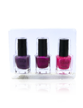 Load image into Gallery viewer, IGlow Nail Polish 3Pk (Shades - Eggplant, Magenta, Hot Pink)