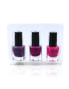 IGlow Nail Polish 3Pk (Shades - Eggplant, Magenta, Hot Pink)