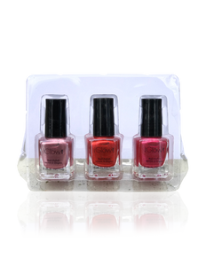 IGlow Nail Polish 3Pk (Shades - Rose, Candy, Punch)