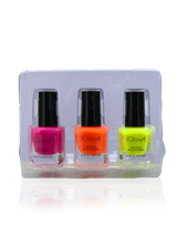 Load image into Gallery viewer, IGlow Nail Polish 3Pk (Shades - Hot Pink, Bright Orange, Charstreuse)