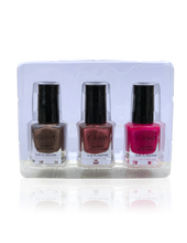 Load image into Gallery viewer, IGlow Nail Polish 3Pk (Shades - Coffee, Rosewood, Magenta)