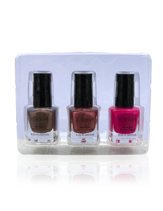 IGlow Nail Polish 3Pk (Shades - Coffee, Rosewood, Magenta)