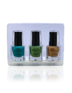 IGlow Nail Polish 3Pk (Shades - Blue, Green, Gold)