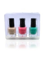 Load image into Gallery viewer, IGlow Nail Polish 3Pk (Shades - Parchment, Punch, Green)