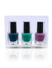 Load image into Gallery viewer, IGlow Nail Polish 3Pk (Shades - Aegean Blue, Sea Foam Green, Lavender)