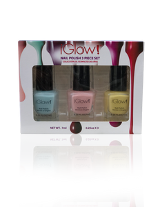 IGlow Nail Polish 3Pk (Shades - Sky Blue, Peach, Daffodil)