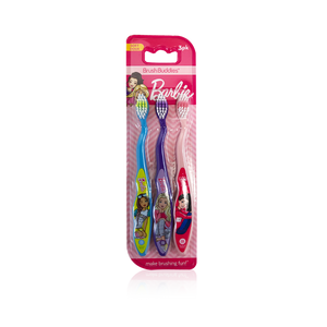 Brush Buddies Barbie Toothbrush 3 pack