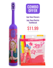 Load image into Gallery viewer, JoJo Siwa Kids Electric Toothbrush + Flossers Combo