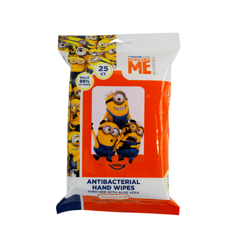 Smart Care Minions Antibacterial Wipes 25 Count