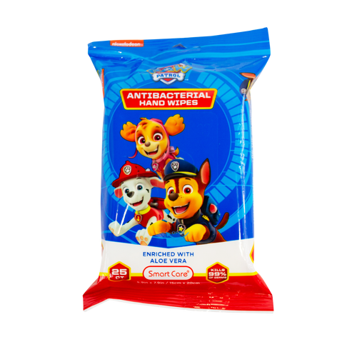 Smart Care Paw Patrol Antibacterial Wipes (25 Count)