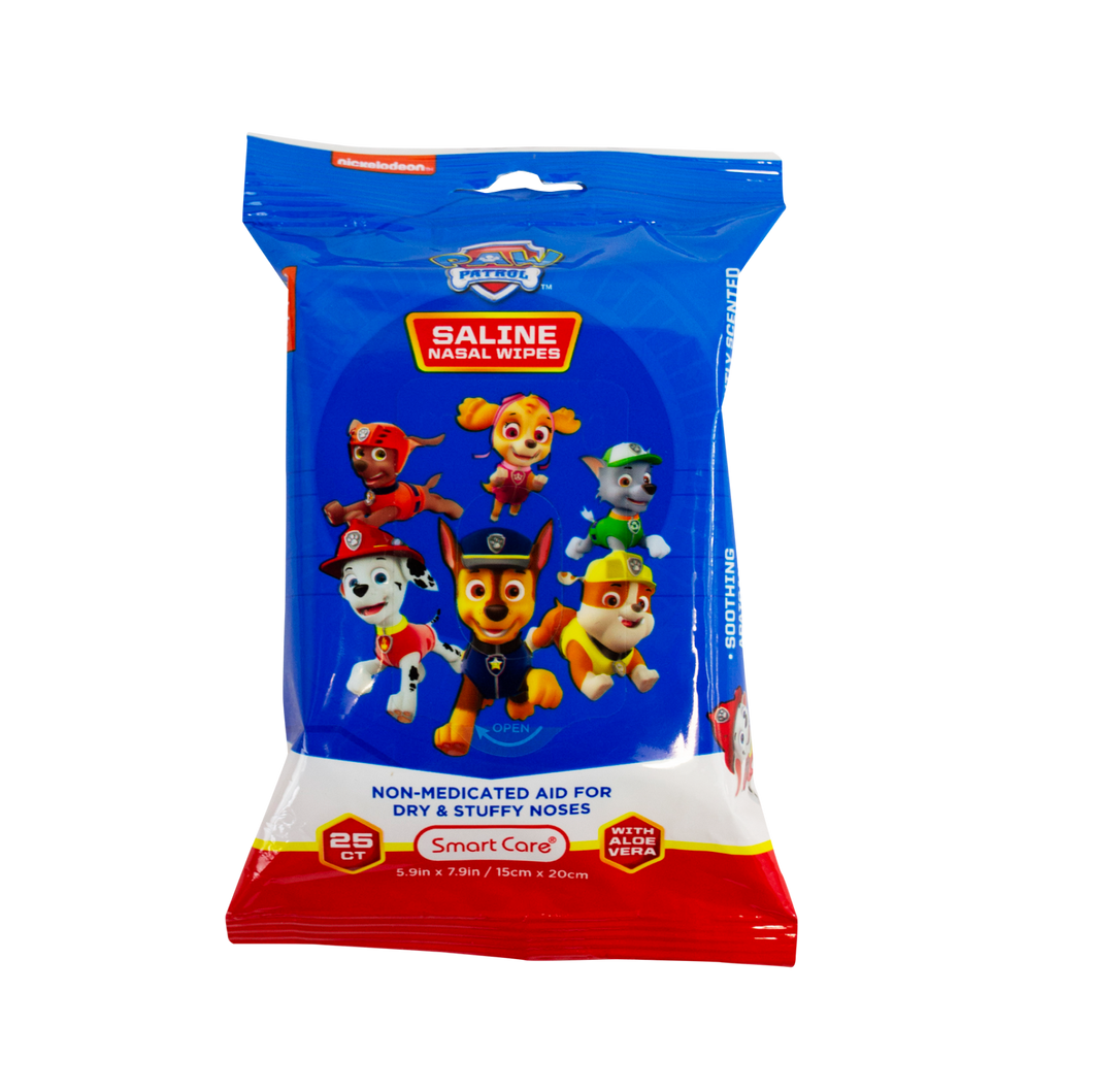 Smart Care Paw Patrol Saline Nasal Wipes (25 Count)