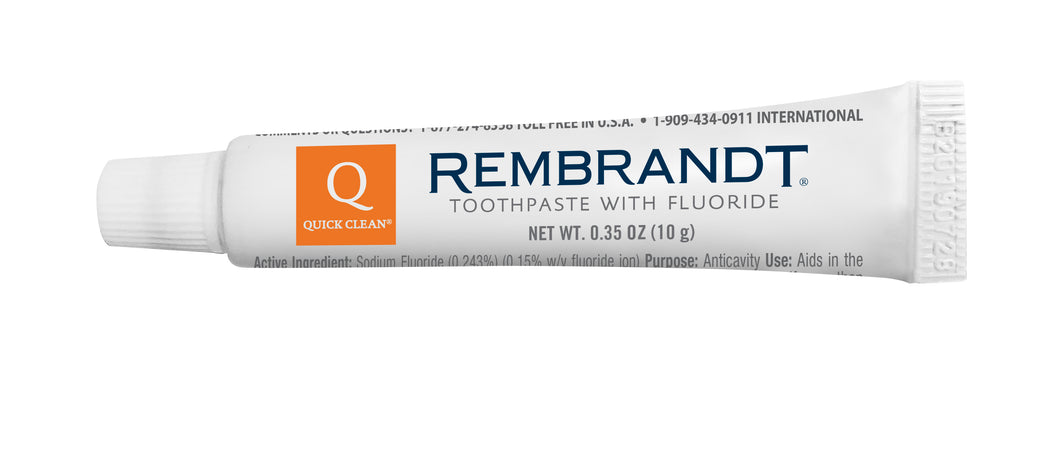 Brush Buddies Rembrandt toothpaste 10g