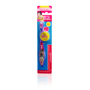 Brush Buddies Barbie Toothbrush 1 pack with Cap