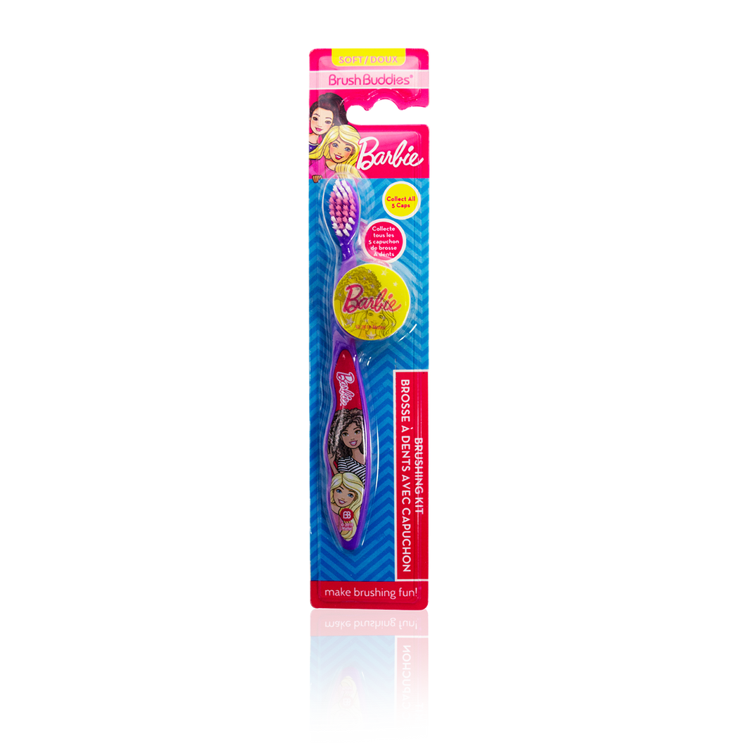 Brush Buddies Barbie Toothbrush With Cap (1 Pack)
