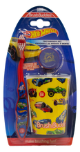 Load image into Gallery viewer, Brush Buddies Hot Wheels Manual Toothbrush Gift Set