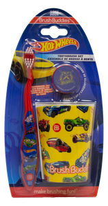 Brush Buddies Hot Wheels Manual Toothbrush Gift Set