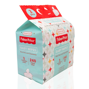 Smart Care Fisher Price Baby Wipes 80 Count (3 Pack)