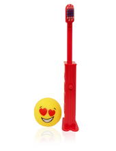 Load image into Gallery viewer, Brush Buddies Pez Poppin' Emoji Love Toothbrush