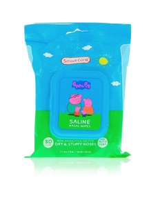 Smart Care Peppa Pig Saline Nasal Wipes (30 Count)