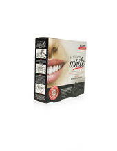 Load image into Gallery viewer, Ultimate White Whitening Dental Strips Infused With Activated Charcoal (3 Day Treatment)