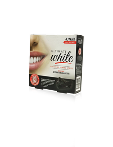 Ultimate White Whitening Dental Strips Infused With Activated Charcoal (3 Day Treatment)