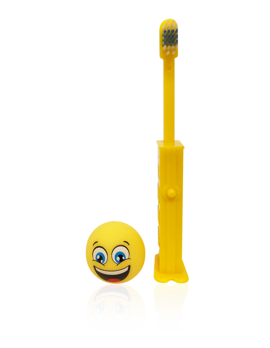 Brush Buddies Pez Poppin' Emoji Happy Face Toothbrush