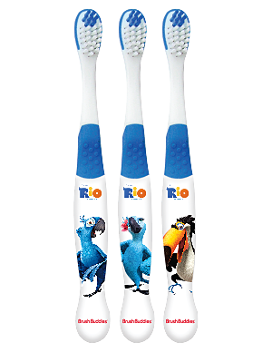 Brush Buddies Rio Toothbrush 3 Pack