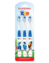 Load image into Gallery viewer, Brush Buddies Rio Toothbrush (3 Pack)