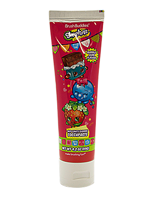 Brush Buddies Shopkins Bubble Gum Toothpaste 4.2 oz