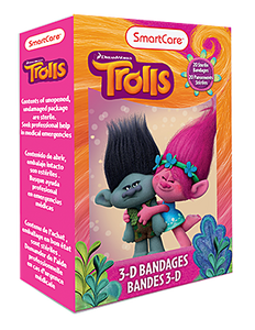 Smart Care Trolls 3D Bandages (20 Count)