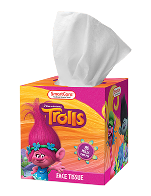 Smart Care Trolls Tissue Box - 85 Count 2 Ply
