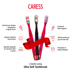 Brush Buddies Caress Gum Care Toothbrush (12/24/48 Pack)