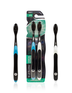 Brush Buddies Charcoal Toothbrush (2 Pack)