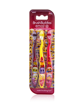 Load image into Gallery viewer, Brush Buddies Emoji Toothbrush 3 Pack