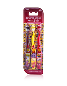 Brush Buddies Emoji Toothbrush 3 Pack