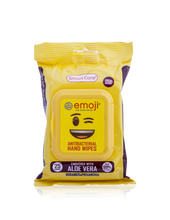 Load image into Gallery viewer, Smart Care Emoji Antibacterial Wipes 25 Count