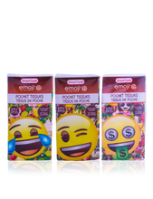 Load image into Gallery viewer, Smart Care Emoji Pocket Facial Tissues 6 Pack