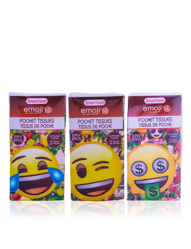 Smart Care Emoji Pocket Facial Tissues 6 Pack