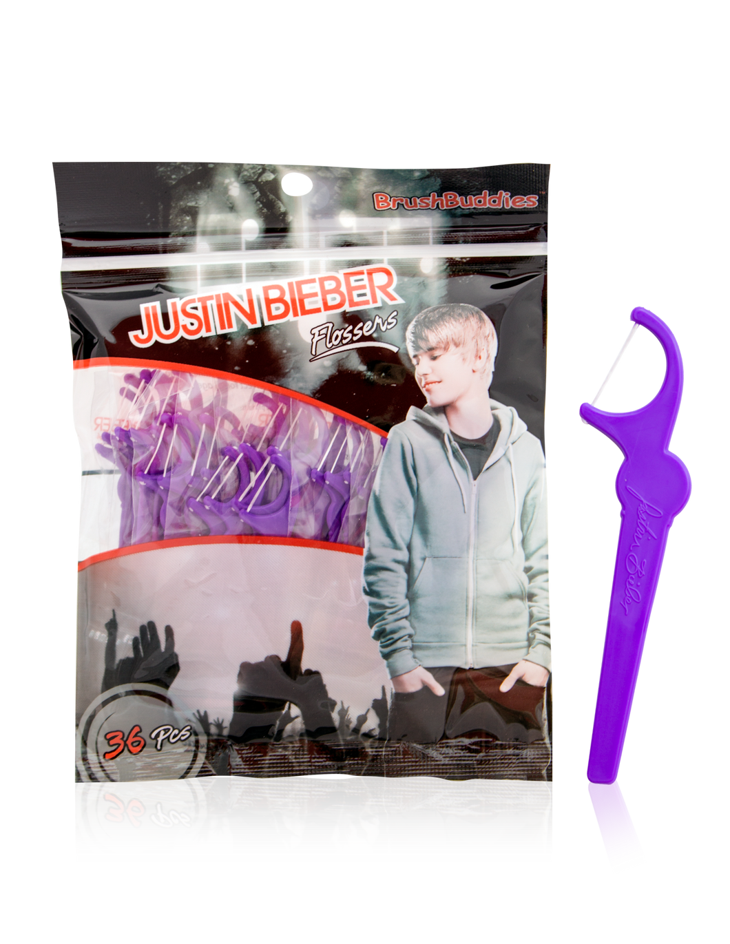 Brush Buddies Justin Bieber Flossers 36 Count