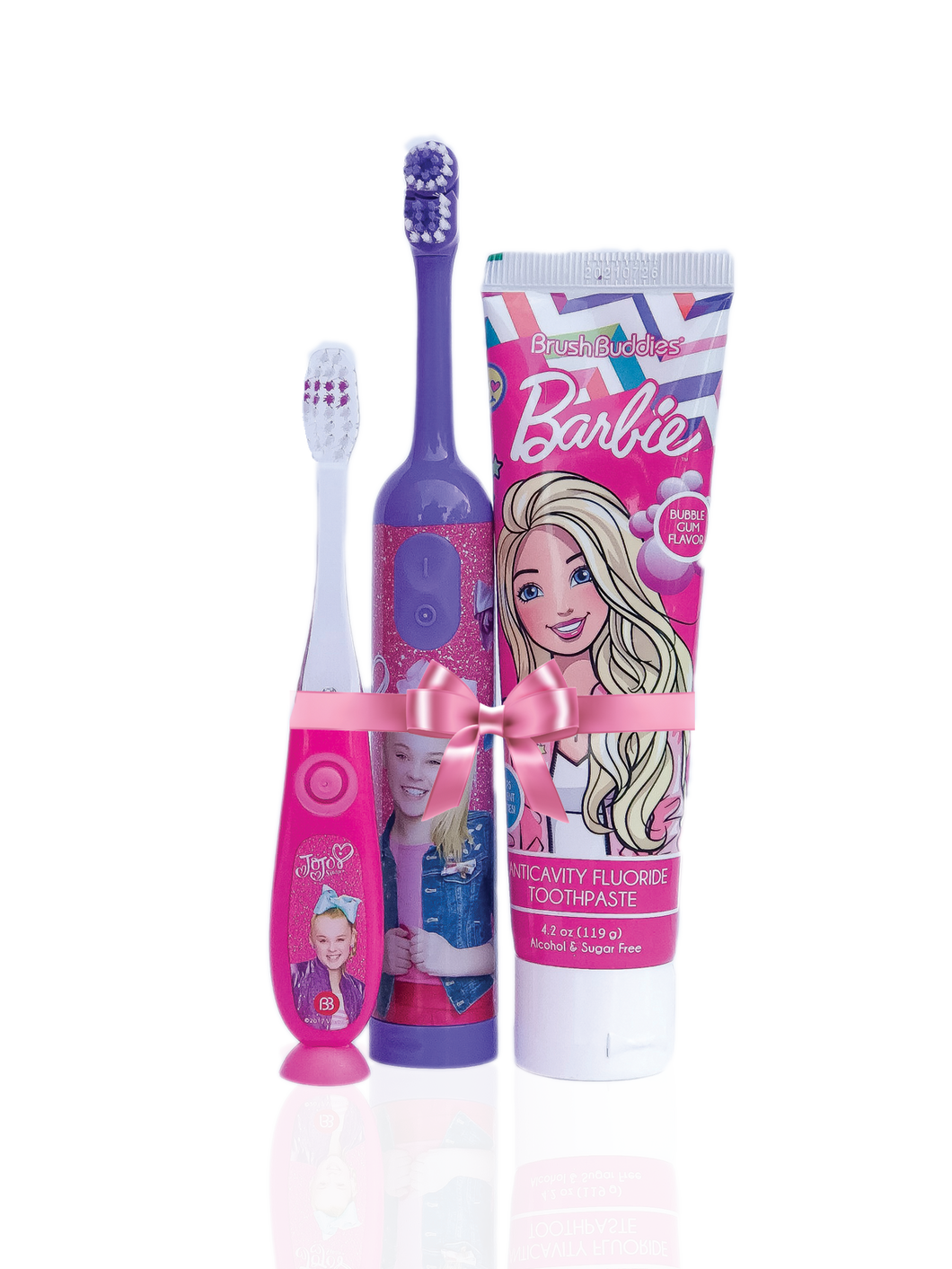 JoJo Siwa Flash + JoJo Siwa Electric Toothbrush + Barbie Toothpaste