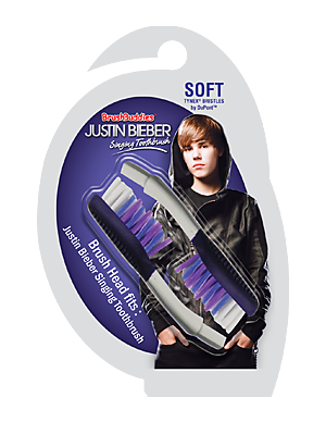 Brush Buddies Justin Bieber Singing Toothbrush Replacement Brush Heads