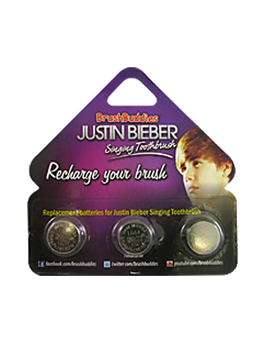 Brush Buddies Justin Bieber Singing Toothbrush Replacement Batteries