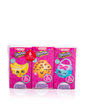 Load image into Gallery viewer, Smart Care Shopkins Pocket Facial Tissues (6 Pack)
