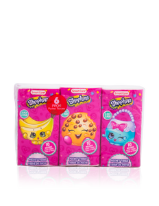 Smart Care Shopkins Pocket Facial Tissues (6 Pack)