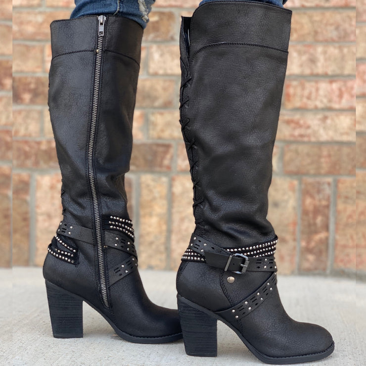 Shine All Day Black Boots - Chic Threads Clothing Co.