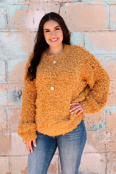 The Cuddle Me Sweater -  Mustard