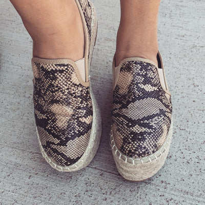Platform Slip On Sneakers - Snake - Chic Threads Clothing Co.