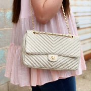 The Classy Chic Purse- Gold Metallic Snake - Chic Threads Clothing Co.