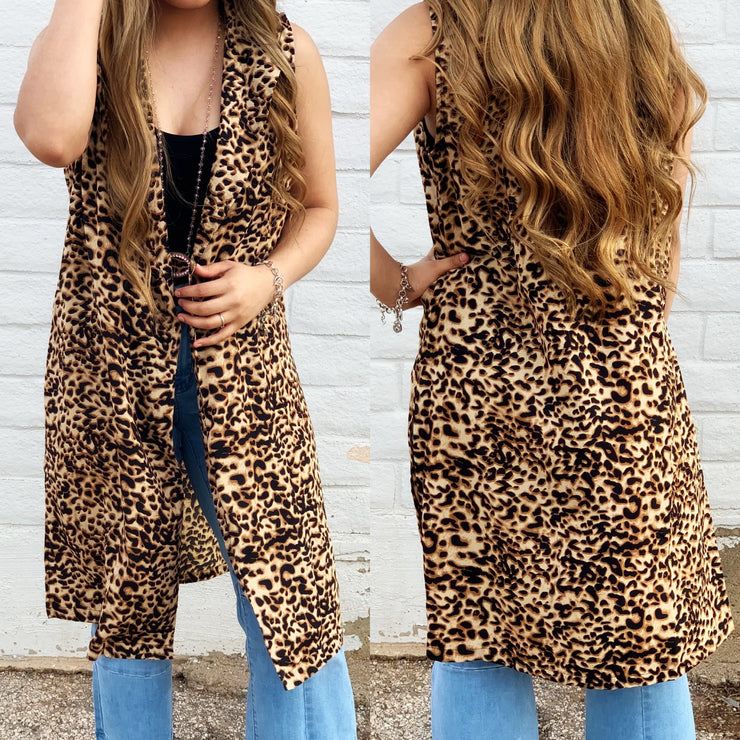 The Boss Vest - Leopard - Chic Threads Clothing Co.