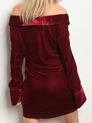 Red Velvet Dress - Chic Threads Clothing Co.